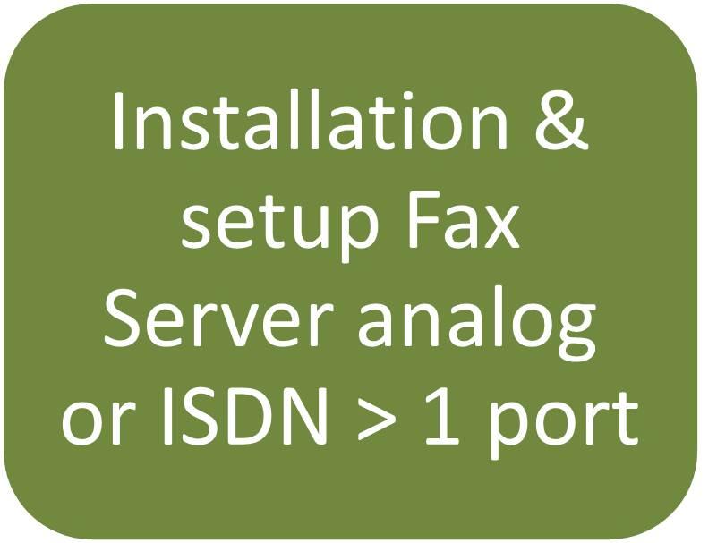 Installation And Setup Of One Fax Server Quarto Octo Isdn